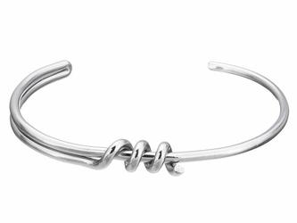 BRANSOLETKA ze stali nierdzewnej SREBRNA węzeł - srebrny