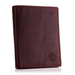 Skórzany portfel betlewski bpm-ot-575 burgundowy
