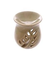 Ceramiczny kominek liście wzór 4