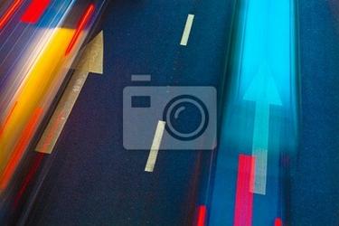 Naklejka autostrada z partii samochodów