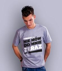 Wyprzedaż - nie mów do mnie teraz męska xl t-shirt męski jasny melanż m