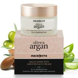 Macrovita olive  argan multi-effective 24-godzinny krem do cery suchej lub odwodnionej 50ml - 50ml