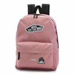 Plecak szkolny Vans Realm Nostalgia Rose - VN0A3UI6UXQ Custom Sweet Kitty z Haftowanym Imieniem