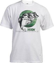 Koszulka JAXON Biała z rybą rozmiar L