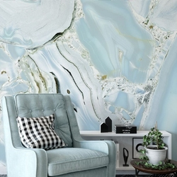 Tapeta na ścianę - azure marble , rodzaj - tapeta flizelinowa laminowana