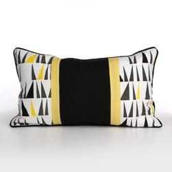 Poszewka na poduszkę dekoracyjna altom design, kolekcja ibiza, dekoracja trójkąty 50x30 cm