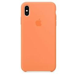 Apple Etui silikonowe iPhone XS Max - papaja