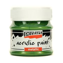 Farba metaliczna 50 ml - zielona jasna - ZIELJAS
