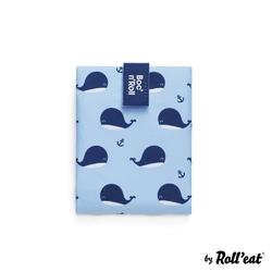 Śniadaniówka dla dzieci bocnroll - animals whales - niebieski