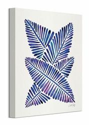 Indigo Banana Leaves - obraz na płótnie