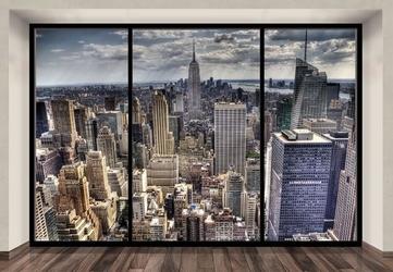 New york, sleepless window - fototapeta