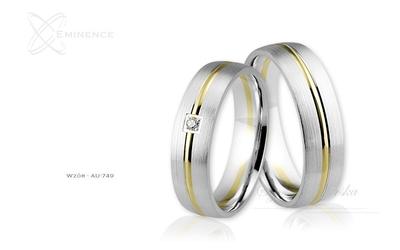 Obrączki ślubne - wzór au-749