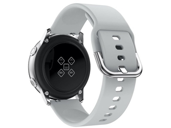 Gumowy pasek alogy soft do samsung galaxy watch active 2 szary 20mm - szary
