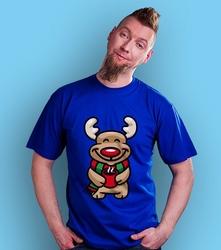 Wyprzedaż - rudi t-shirt męski niebieski m