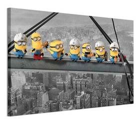 Despicable me lunch on a scyscraper - obraz na płótnie