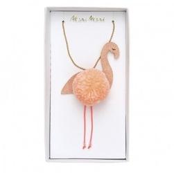 Meri meri - naszyjnik flaming pompon