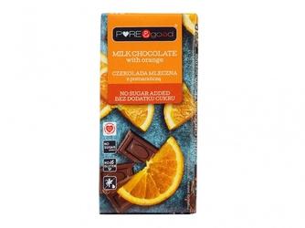 Czekolada mleczna z pomarańczą - bez cukru 75g puregood