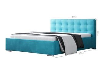 Łóżko tapicerowane diamond 140x200