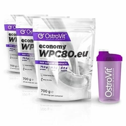 Ostrovit WPC Economy - 3x 700g + Shaker - Chocolate Dream