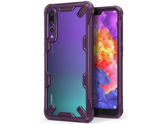Etui ringke fusion x huawei p20 pro lilac purple + szkło alogy - fioletowy