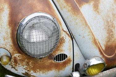 Fototapeta na ścianę zardzewiały samochód detal fp 4588