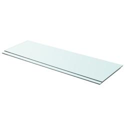 Vidaxl półki, 2 szt., panel z przezroczystego szkła, 90 x 30 cm