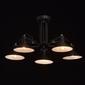 Czarne oświetlenie wiszące na 5 żarówek - regulowane klosze mw-light loft 691010805