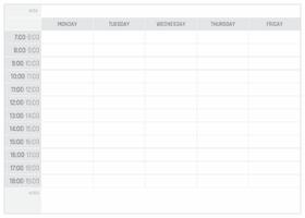 Plan tygodnia tablica suchościeralna 298 wersja angielska