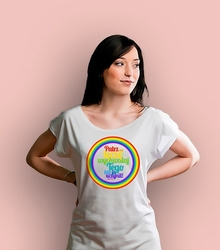 Patrz na tęczę t-shirt damski biały l