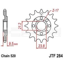 Zębatka przednia jt f284-14 sc, 14z, rozmiar 520 2201176 honda cr 250