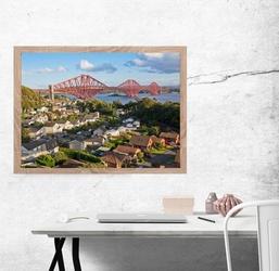Szkocja, forth bridge - plakat premium wymiar do wyboru: 50x40 cm