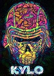 Psychoskulls, kylo ren, star wars gwiezdne wojny - plakat wymiar do wyboru: 40x50 cm