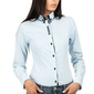Błękitna klasyczna koszula z podwójnym kołnierzykiem