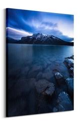 Lake minnewanka, canada - obraz na płótnie