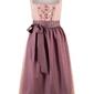 Sukienka ludowa z fartuchem, długość do łydki bonprix stary jasnoróżowy wzorzysty