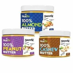NUTVIT 100 Peanut Butter + 100 Cashew Butter + 100 Almond Butter