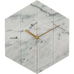 Zegar ścienny Marble Hexagon Karlsson biały KA5591WH