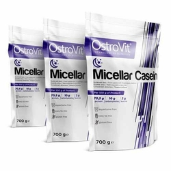 OSTROVIT Micellar Casein - 3x 700g - Vanilla