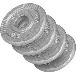 Zestaw obciążeń żeliwnych 4x0,5kg srebrne