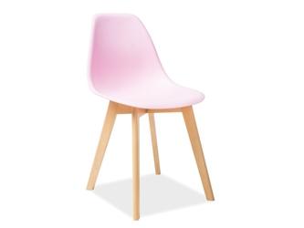 Krzesło do jadalni Viola różowe