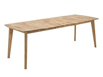 Nowoczesny drewniany dębowy rozkładany stół jannis  140-185x90 cm