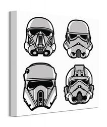 Star wars rogue one helmets - obraz na płótnie