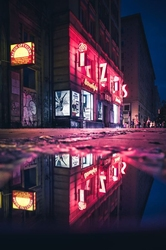 Neon - plakat premium wymiar do wyboru: 29,7x42 cm