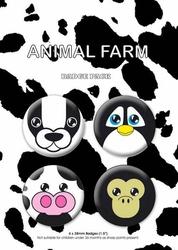 Animal Farm - zestaw 4 przypinek