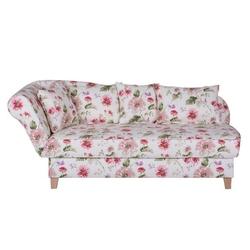 Ennis biała sofa w kwiaty