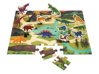 DINOZAURY puzzle zestaw z figurkami