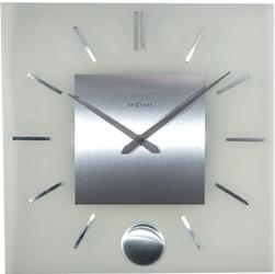 Zegar ścienny z wahadłem stripe nextime 40 x 40 cm 3146