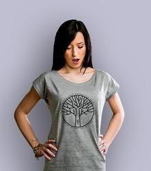 Gałęzie t-shirt damski jasny melanż xxl
