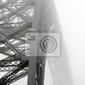 Fototapeta foggy bridge