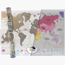 Mapa Zdrapka Premium – Świat PL